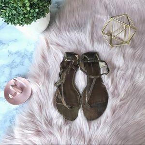 Banana Republic Metallic Thong Sandals Size 7